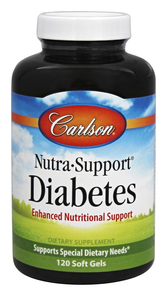 Carlson Labs - Nutra-Support Diabetes Iron-Free - 120 Softgels