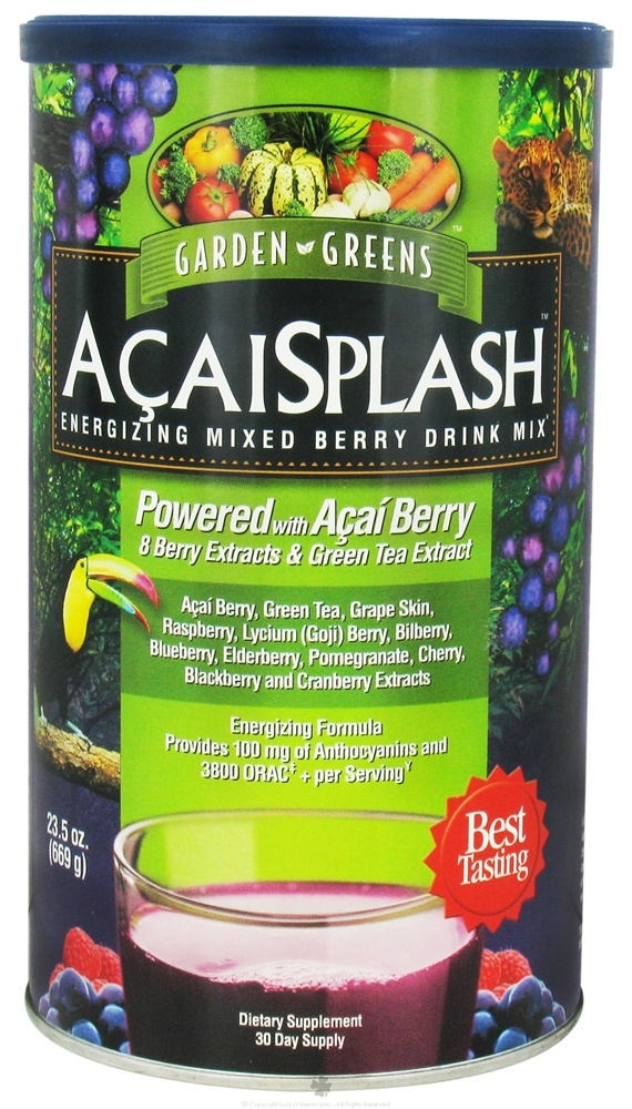 Garden Greens - AcaiSplash Energizing Mixed Berry Drink Mix - 669 Grams