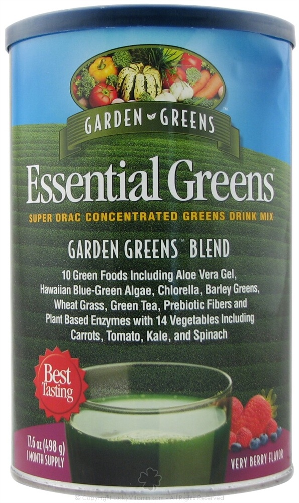 Garden Greens - Essential Greens Garden Greens Blend Very Berry Flavor - 498 Grams