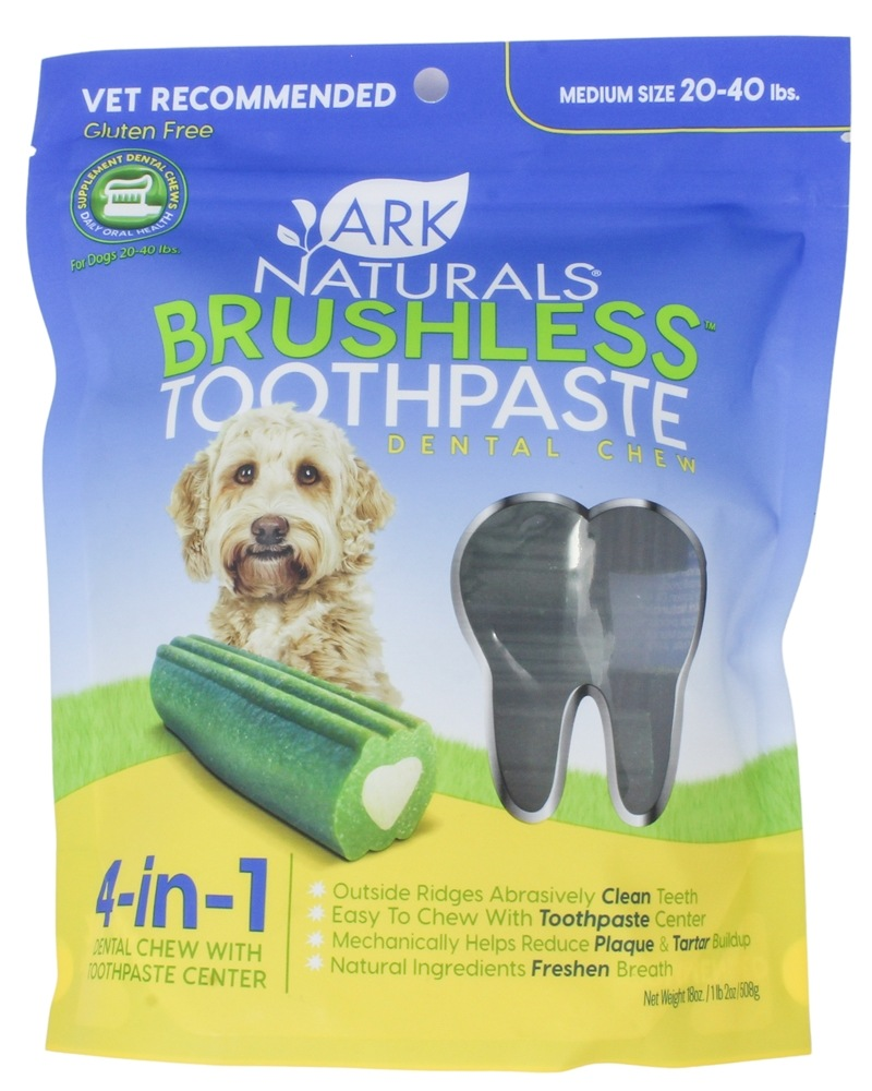 Ark Naturals - Breath-Less Chewable Brushless-Toothpaste for Medium to Large Dogs - 18 oz.