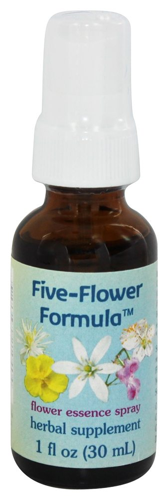 Flower Essence Services - Five-Flower Formula Organic Stress Relief Spray - 1 oz.