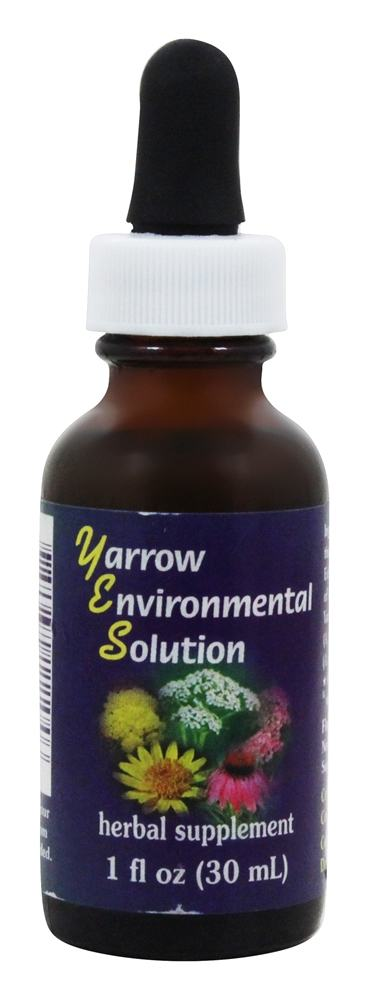 Flower Essence Services - Yarrow Environmental Solution Organic Supplement Drops - 1 oz.