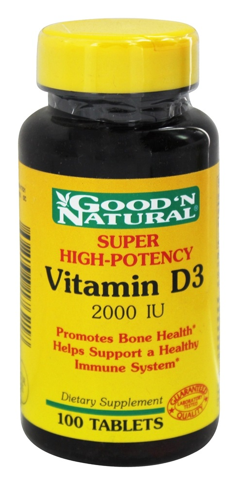Good 'N Natural - High Potency Vitamin D D3 - 100 Tablets