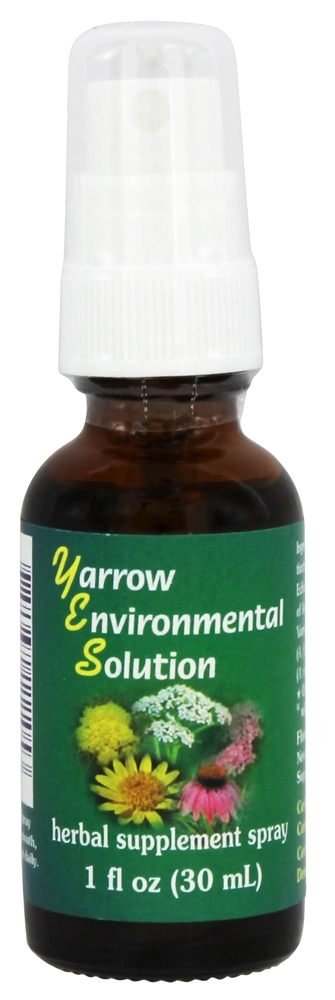 Flower Essence Services - Yarrow Environmental Solution Organic Supplement Spray - 1 oz.