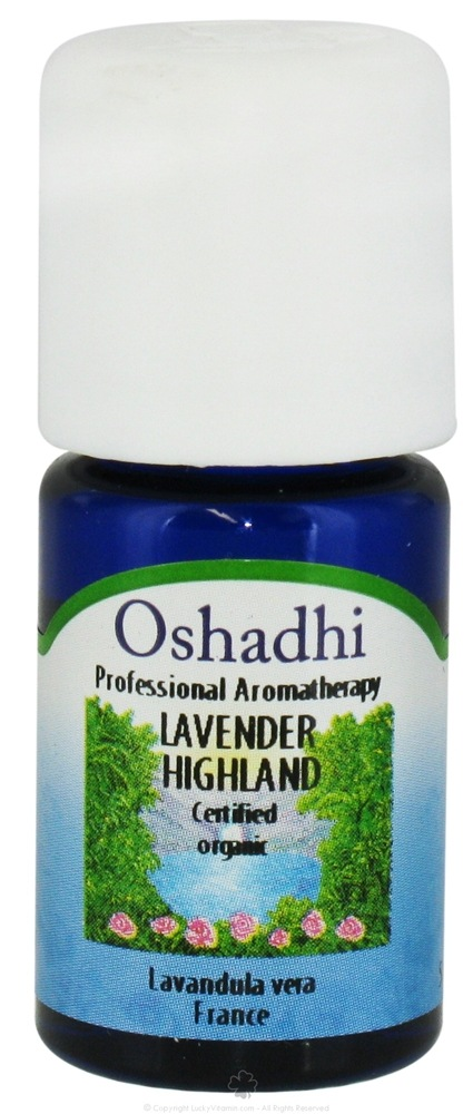 Oshadhi - Professional Aromatherapy Highland Lavender Certified Organic Essential Oil - 5 ml. CLEARANCE PRICED