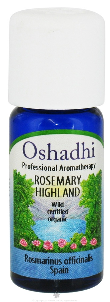 Oshadhi - Professional Aromatherapy Wild Highland Rosemary Certified Organic Essential Oil - 10 ml. CLEARANCE PRICED