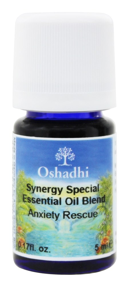 Oshadhi - Professional Aromatherapy Anxiety Rescue Synergy Blend Essential Oil - 5 ml.