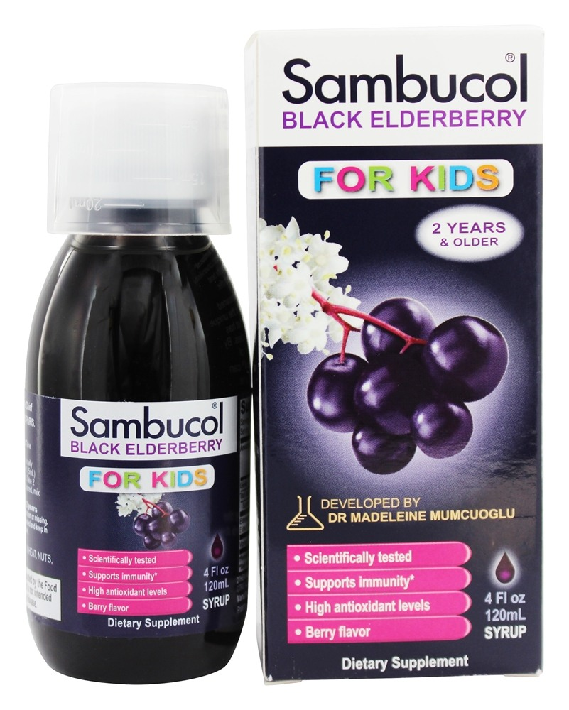 Sambucol - Black Elderberry For Kids Liquid - 4 oz.