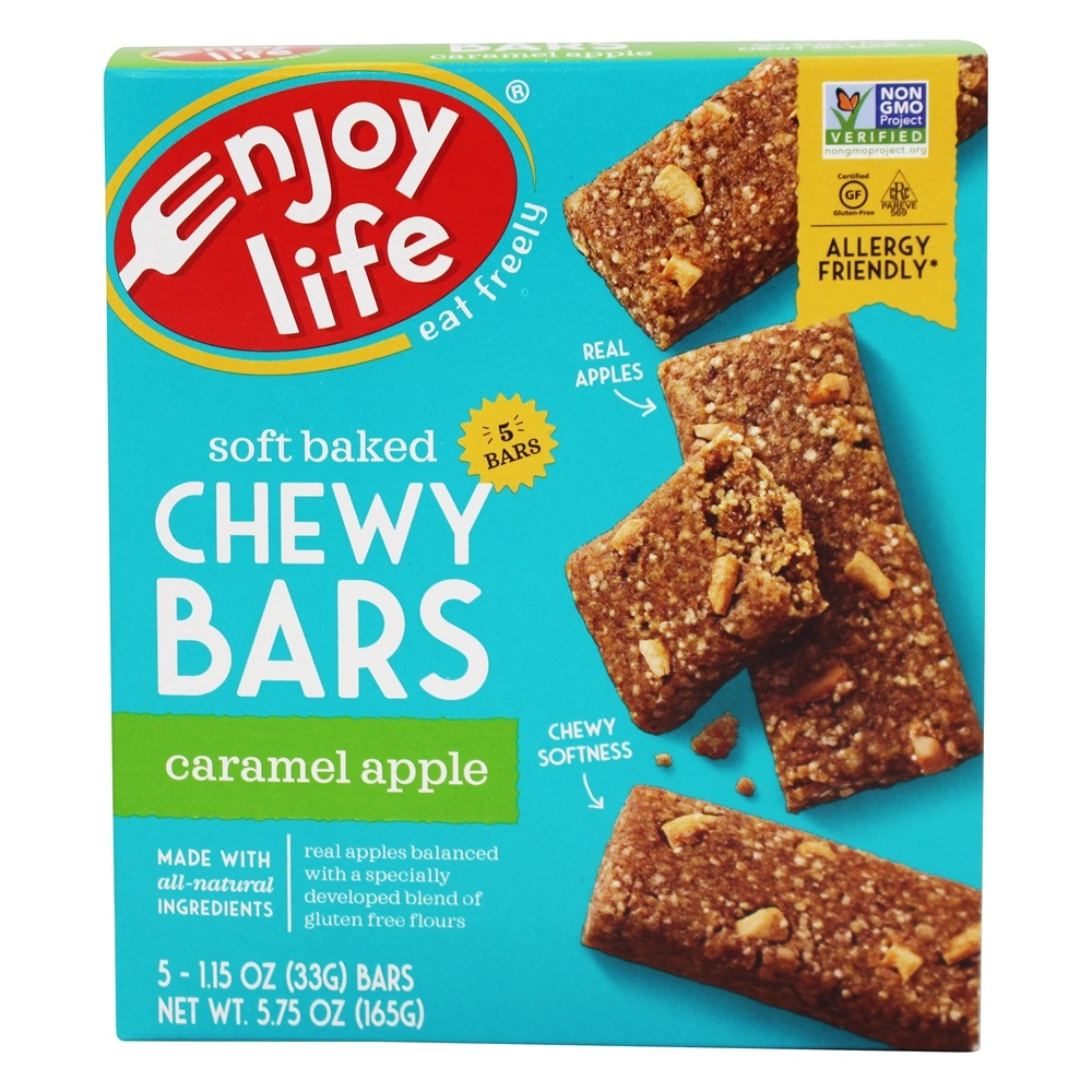 Enjoy Life Foods - Chewy On The Go Bars Caramel Apple - 5 Bars