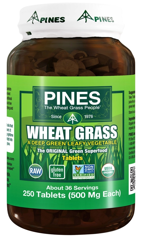 Pines - Wheat Grass Tabs 500 mg. - 250 Tablets