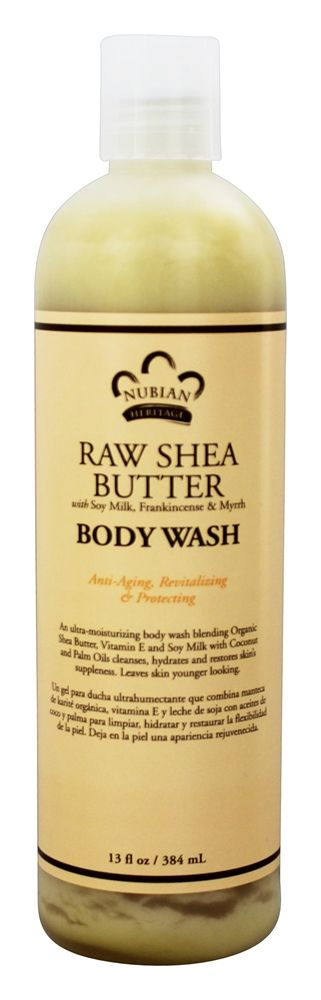 Nubian Heritage - Body Wash Raw Shea Butter - 13 oz.