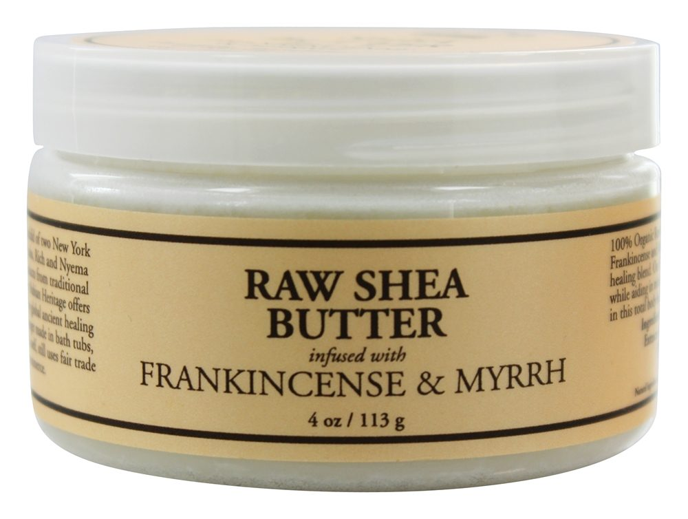Nubian Heritage - Raw Shea Butter Infused With Frankincense & Myrrh - 4 oz.