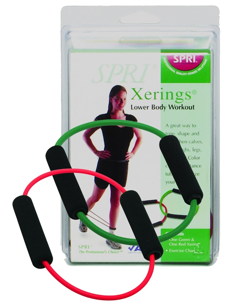 SPRI - Xering Light and Medium Resistance Green/Red - 2 Band(s)