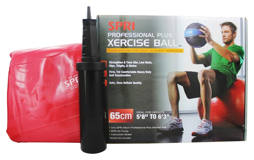 SPRI - Xercise Ball Professional Plus - 65cm Ball w/ Pump - 1 Ball(s)