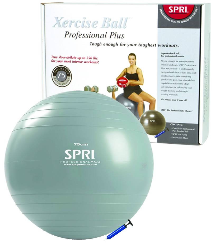 SPRI - Xercise Ball Professional Plus -75 cm Ball w/ Pump - 1 Ball(s)