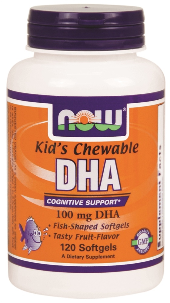 NOW Foods - Kid's Chewable DHA 100 mg. - 120 Softgels