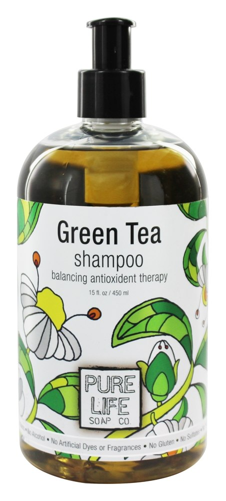 Pure Life - Green Tea Shampoo - 15 oz.