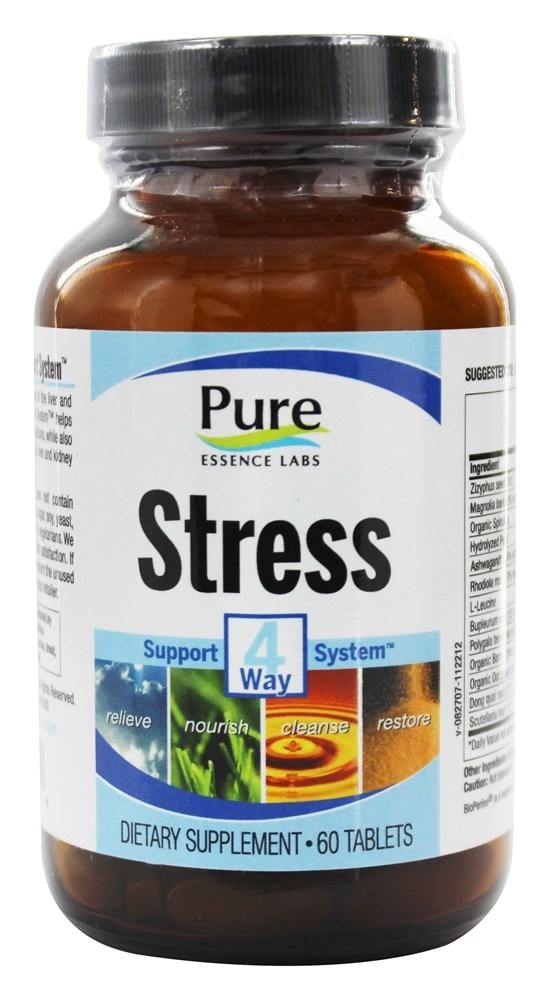 Pure Essence Labs - Stress 4 Way Support System - 60 Tablets