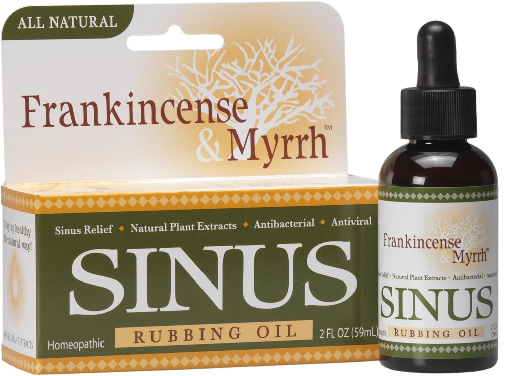 Frankincense & Myrrh - All Natural Sinus Rubbing Oil - 2 oz.