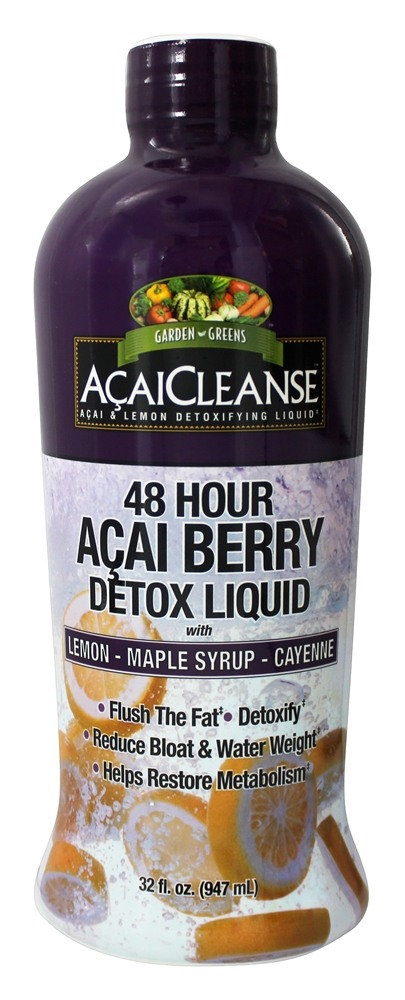 Garden Greens - AcaiCleanse 48 Hour Acai Berry Detox Liquid with Lemon Maple Syrup & Cayenne - 32 oz.