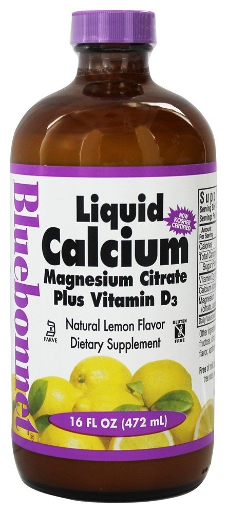 Bluebonnet Nutrition - Liquid Calcium Magnesium Citrate Natural Lemon Flavor - 16 oz.