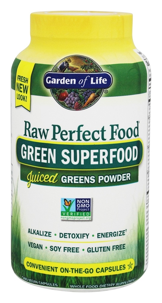 Garden of Life - Perfect Food RAW Green Super Food - 240 Vegetarian Capsules