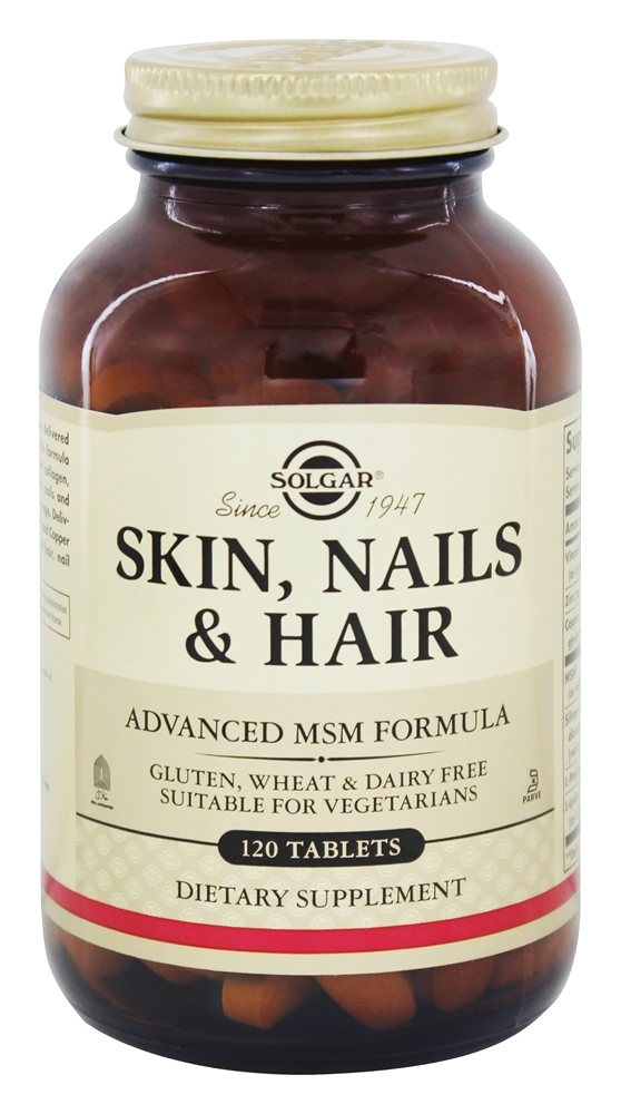 Solgar - Skin Nails & Hair Advanced MSM Formula - 120 Tablets