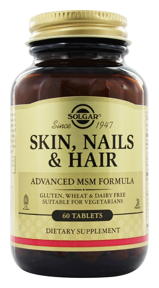 Solgar - Skin Nails & Hair Advanced MSM Formula - 60 Tablets