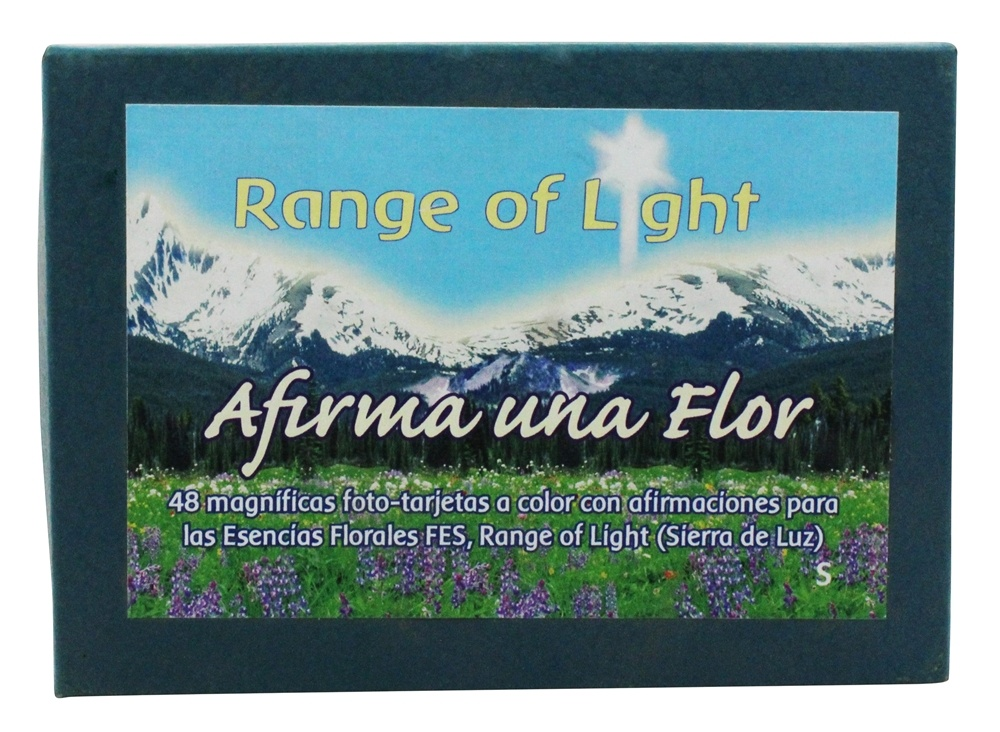 Flower Essence Services - Range of Light Afirma Una Flor Flower Affirmation Card Set Spanish - 48 Cards - 1 Box(s) CLEARANCE PRICED