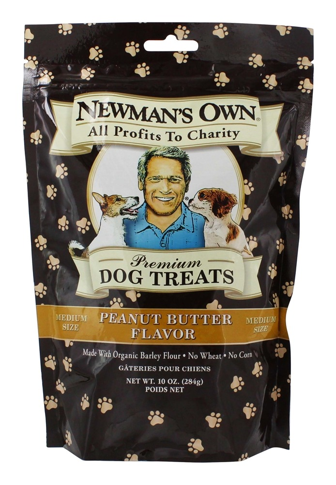 Newman's Own Organics - Dog Treats Medium Size Peanut Butter Flavor - 10 oz.