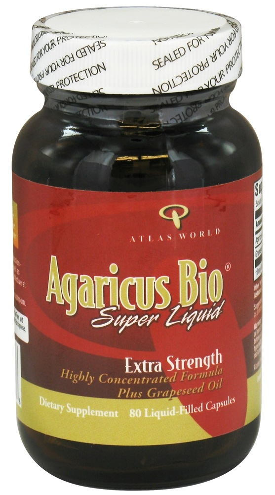 Atlas World - Agaricus Bio Super Liquid Extra Strength - 80 Liquid-Filled Capsules