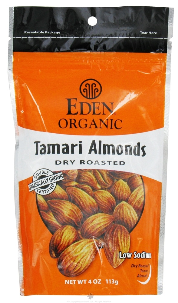 Eden Foods - Organic Tamari Almonds Dry Roasted - 4 oz.