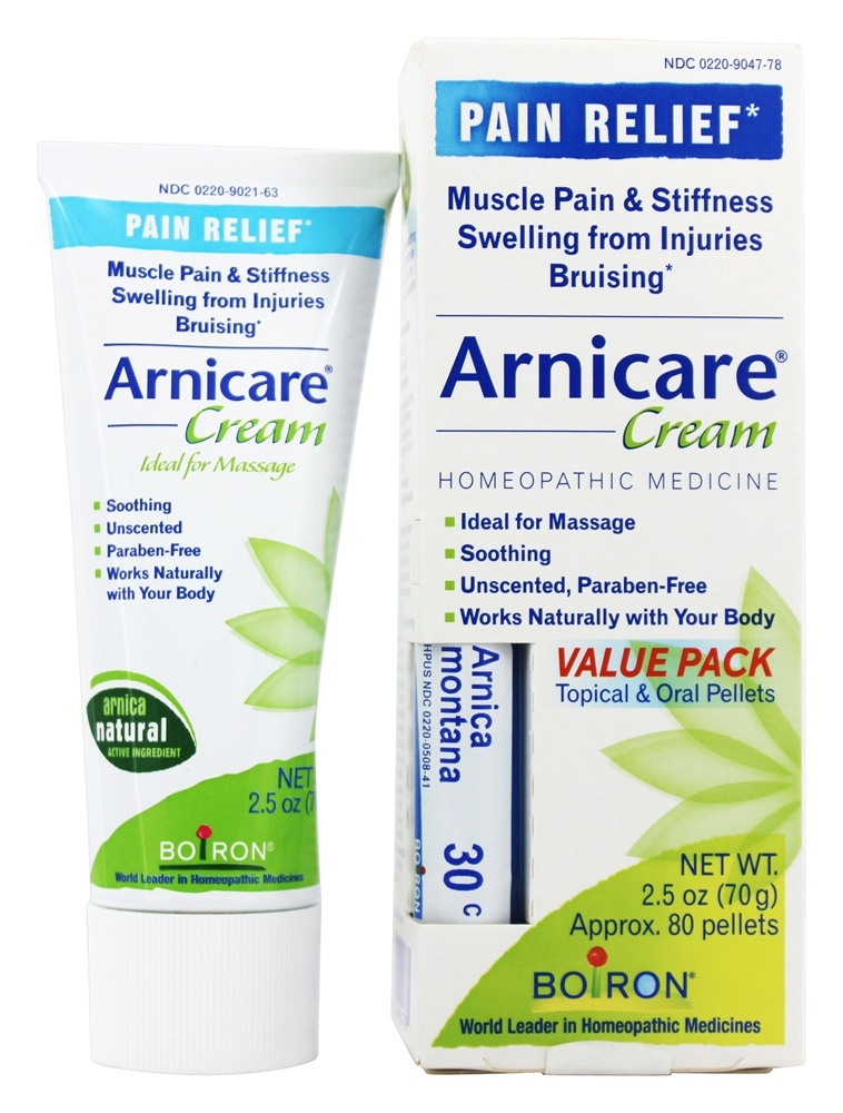 Boiron - Arnicare Arnica Cream Value Pack + 1 - 30 C Arnica Montana Blue Tube! (70 g) - 2.5 oz.
