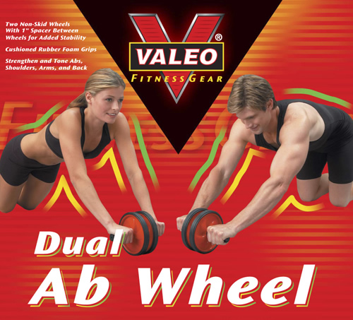 Valeo Dual AB Wheel Includes: Two non-skid wheels for stability and